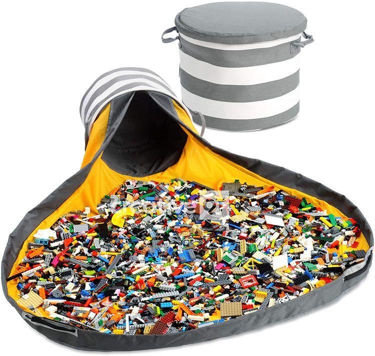 Slideaway toy storage basket